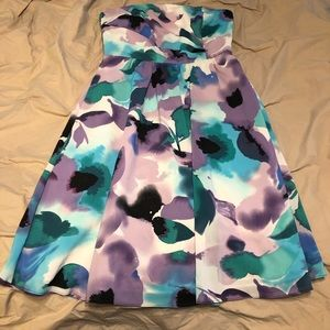 The Limited Strapless Watercolors Dress
